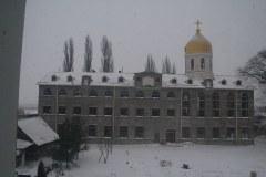 Литургия в Свято-Иверском монастыре 08,01,2017