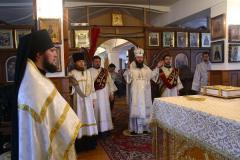 Литургия в Свято-Иверском мужском монастыре 22.01.2017