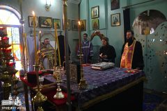 Преосвященнейший Диодор, епископ Южненский, посетил г. Южный, где совершил Божественную Литургию в Свято-Введенском храме